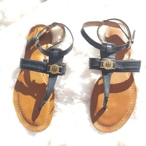 Tommy Hilfiger strappy navy sandals